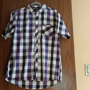 Size XL.  Zoo York Plaid Button- Front Shirt